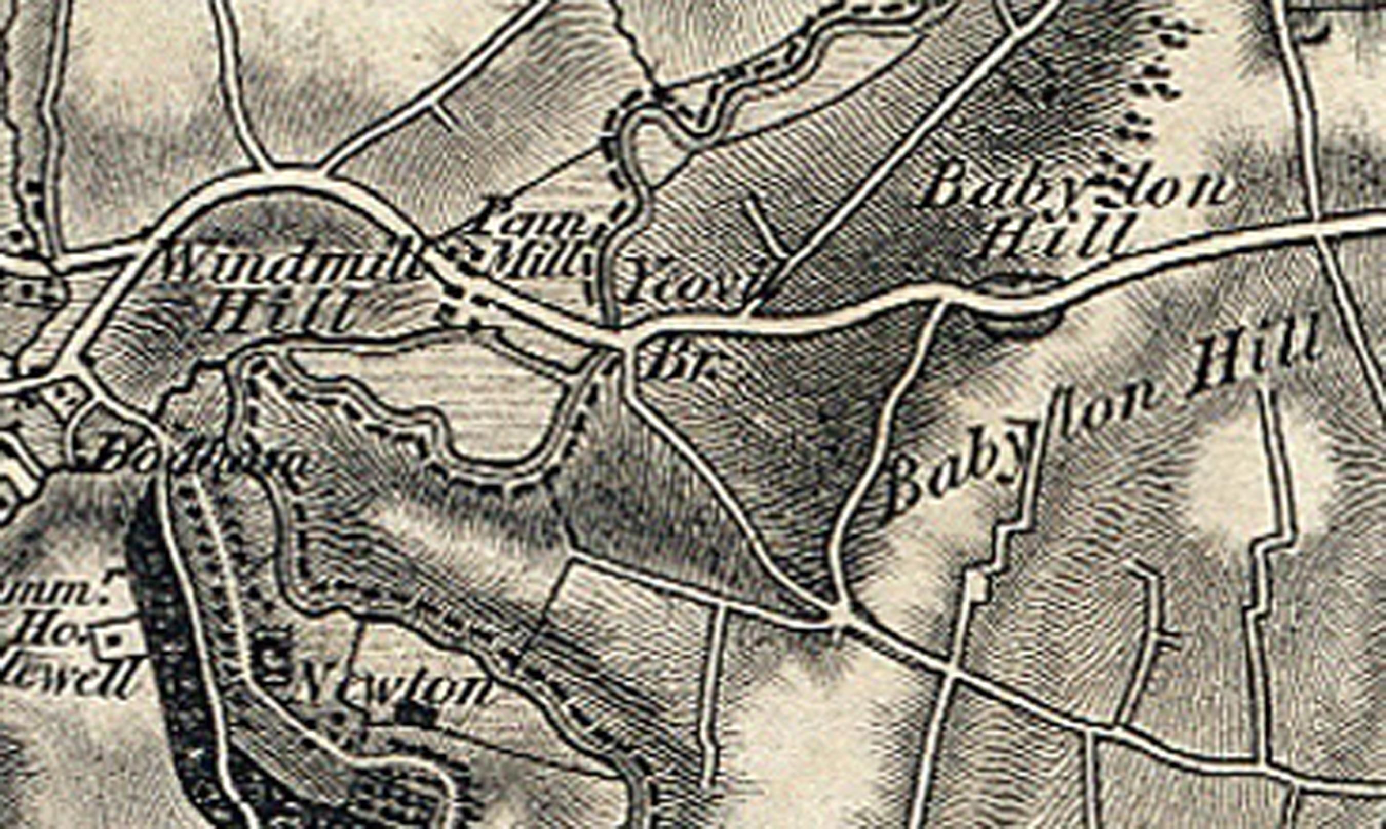 1811 OS Babylon Hill section