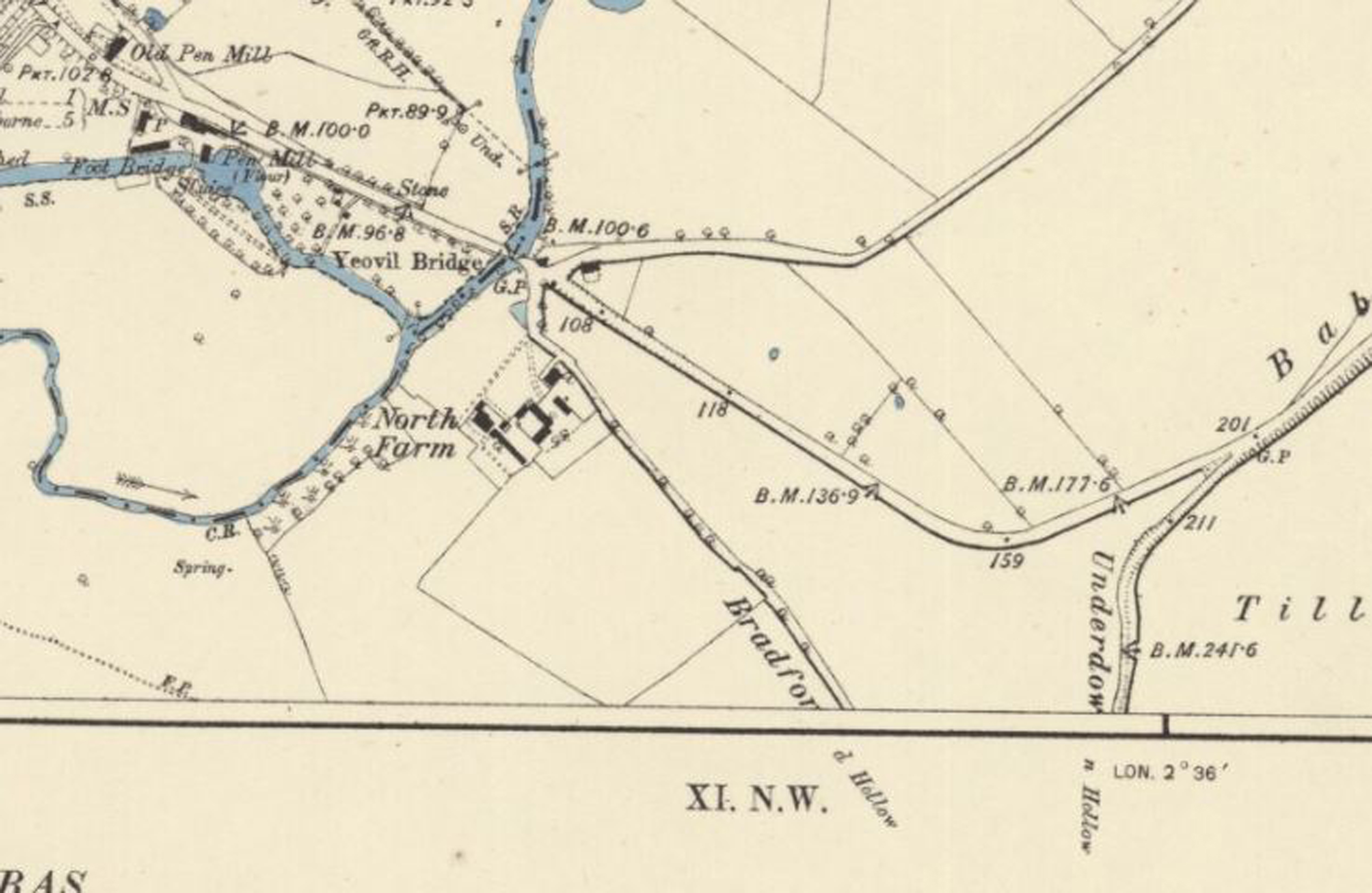 1887 map Babylon Hill section