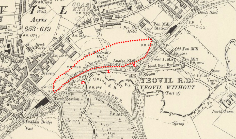 1901 map with walk