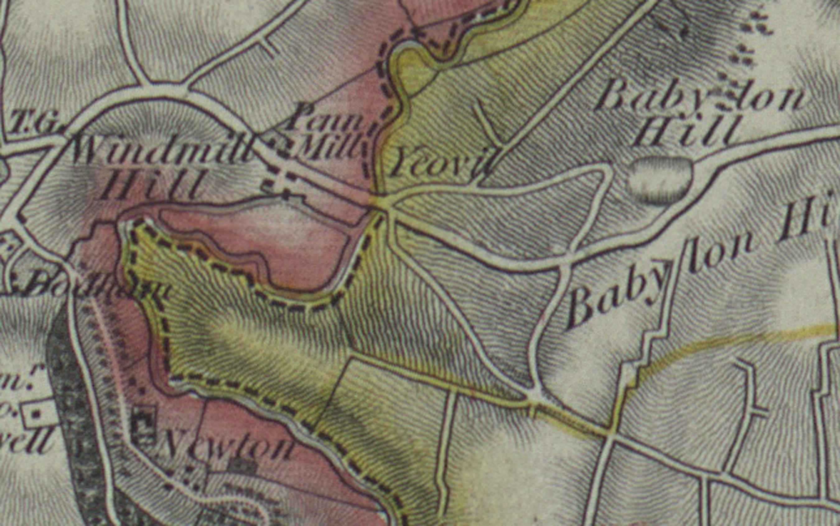 Sherborne_1830_1840 Babylon Hill section