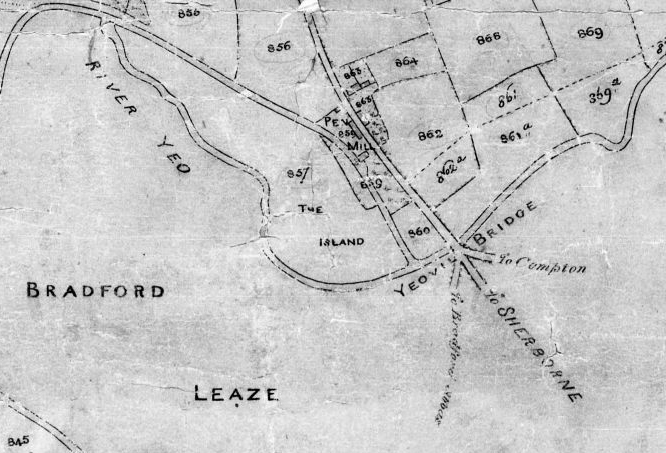 Tithe Map bw Babylon Hill section