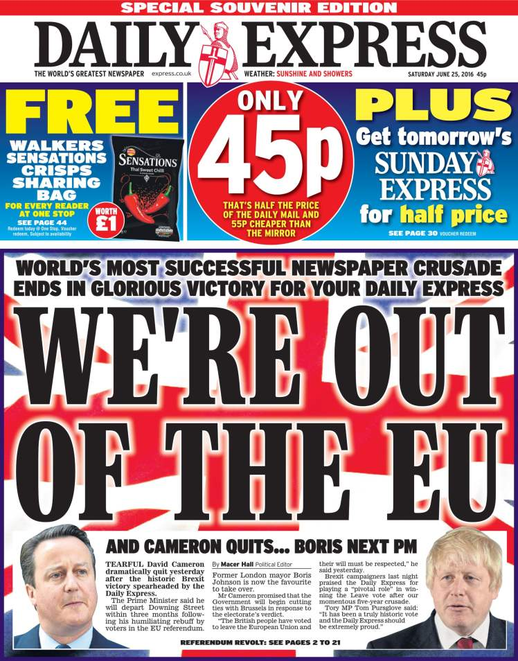 express front page referendum